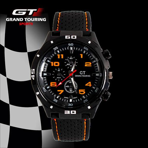 Men Quartz Causal Sport Military Pilot Aviator Army Silicones Rublle Racer Watch GT Brand 2015 Most Hot Sale Cool Gift Watches
