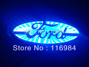 Wholesale Blue white red Car Emblem LED Trunk Hood Background Light For Focus MONDEO X5 CM