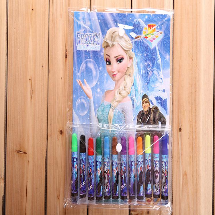 Looking For 2014 New Frozen Stationery Set Elsa Anna Princess Cartoon Coloring Book Water Color Pen