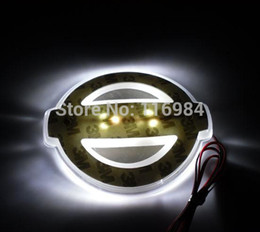 Wholesale Led Trunk - CAR LED LIGHT UP BADGE DECAL LOGO TRUNK EMBLEM STICKER LAMP BACKLIGHT FOR TEANA :9.4cm x 8.0cm