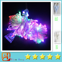 Natale X5pcs ePacket Led String 9 colori 10M 100 LED String Lights luce flash Festa di natale Fata lampade da sposa luce Twinkle