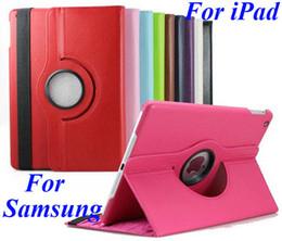 Wholesale Galaxy S Mini Covers - 360 Degree Rotating PU Leather Case For iPad Mini 2 3 4 5 6 Air Air2 Samsung Galaxy Tab S T700 T800 P3200 P5200 T230 T530