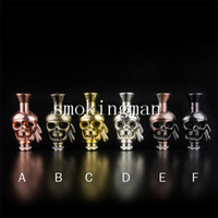 Wholesale skull rda atomizer for sale - Group buy NEW Skull metal Drip tip tips Mouthpiece fit stainless steel glass ego WAX Globe coil Kayfun Patrio pipe Rda rainbow Pipe Atomizer