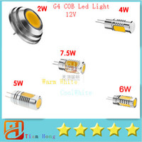 Wholesale G4 Led Bulb 2w Cree - G4 COB Crystal Lamp Bulb LED Spot light Bulbs DC12V 2W 4W 5W 6W 7.5W LED Bulb Halogen lamp Replace-cheaporder 5PCS