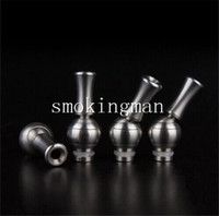 Wholesale Dct Pipe - Rotating 360 Degree Stainless Steel drip tip Adjustable Mouthpiece fit glass ego WAX Globe coil DCT pipe rainbow Pipe Atomizer