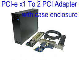 Опт PCI-e x1 до 2 PCI адаптер PCI express к двойной PCI Райзер карты с корпусом корпус