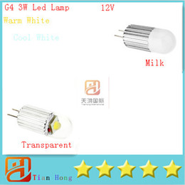 Wholesale cob led spot 3w - Dimmable G4 3W Led Corn Bulb Spot Light DC 12V High Power led spotlight 10pcs