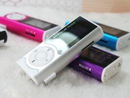 Wholesale Sd Slot Mini Speaker Mp3 - Digital MP3 Player w  LCD Screen - Colorful Sport Mini Clip Music Mp3 Players w  (Micro SD) TF Card Slot, FM Radio Speaker & LED Flashlight
