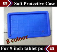 Wholesale Ipad Back Rubber - CHpost Soft silicone rubber back cover case for 9 inch A13 A23 A33 android 4.2 4.4 Tablet PC T900 TB8