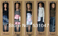 "Wholesale Doll Boxes For Shipping - Wholesale-Free shipping High Quality 11.5"" Fashion doll packaged in window box 4 piece a lot with accessories for girls"