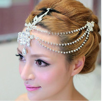 Wholesale Crown For Wedding Dress - Sparking Bridal Beads Wedding Tiaras Hair Accessories For Wedding Dresses Tiaras And Crowns Rhinestone Pageant Hair Jewelry