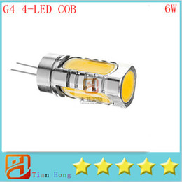 iluminação de pé livre lâmpadas Desconto Levou g4 suporte da lâmpada cob bulbo 6 w 12 v dc leitura de iluminação de cristal dimmable lâmpadas holofotes 4 chips de alta potência 10 pçs / lote navio livre