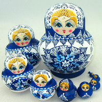 Vente en gros de 10 couches Architectural Wooden Nesting Wishes Matryoshka Madness Russian Dolls