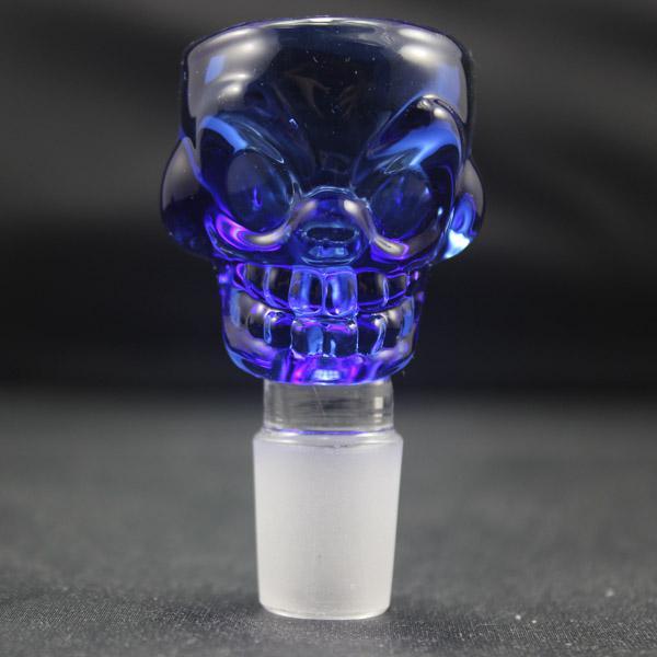 Skull Deststem Glass Glass Bowl 14.5mm i 18,8 mm Opcjonalny kolorowy szklany miski grubość 7 mm duża pojemność pasuje do szklanego bongu