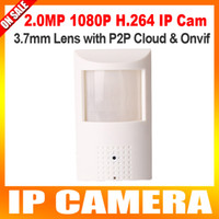 Wholesale Ip Hidden Camera Motion Detector - PIR STYL Motion Detector HD H.264 1080P IP Hidden Camera 2.0Megapixel Onvif P2P Plug and Play Security Network Cameras