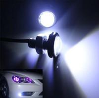 luzes traseiras conduzidas para carros venda por atacado-2X LEVOU 9 W Mini Eagle Eye Estacionamento Daytime Driving Luz Da Cauda Backup DRL Fog Lamp Parafuso no Parafuso Iluminação Do Carro / LED agle Eye lâmpada
