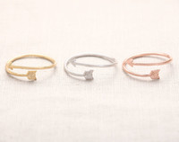 Wholesale Cool Gift Wrap - 10pcs lot Arrow Wrap Ring - Rose Gold arrow rings,unique rings,adjustable rings,knuckle ring,stretch rings,cool rings,cute ring,JZ008