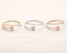 Wholesale Wedding Arrow - 10pcs lot Arrow Wrap Ring - Rose Gold arrow rings,unique rings,adjustable rings,knuckle ring,stretch rings,cool rings,cute ring,JZ008