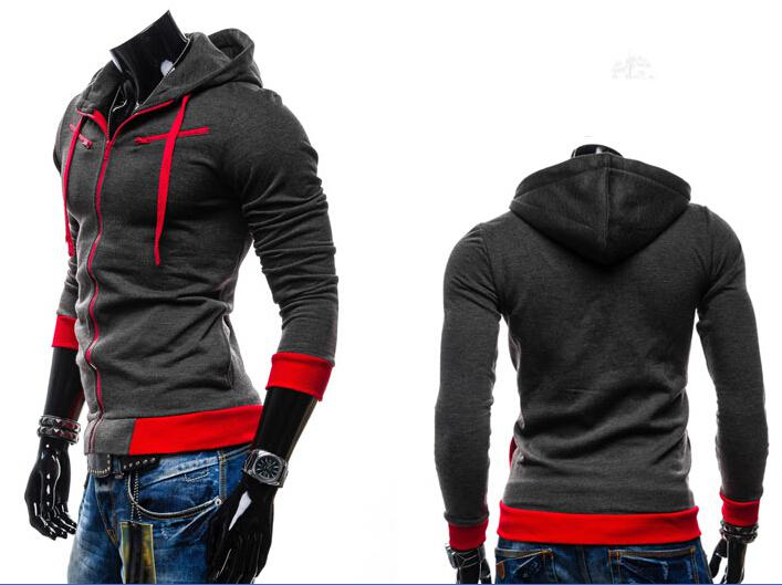 Neuer europäischer Arthoody-Kontrastfarbe-Männer beiläufiger Vlieswolljacke mit Kapuze Kaschmirhoody