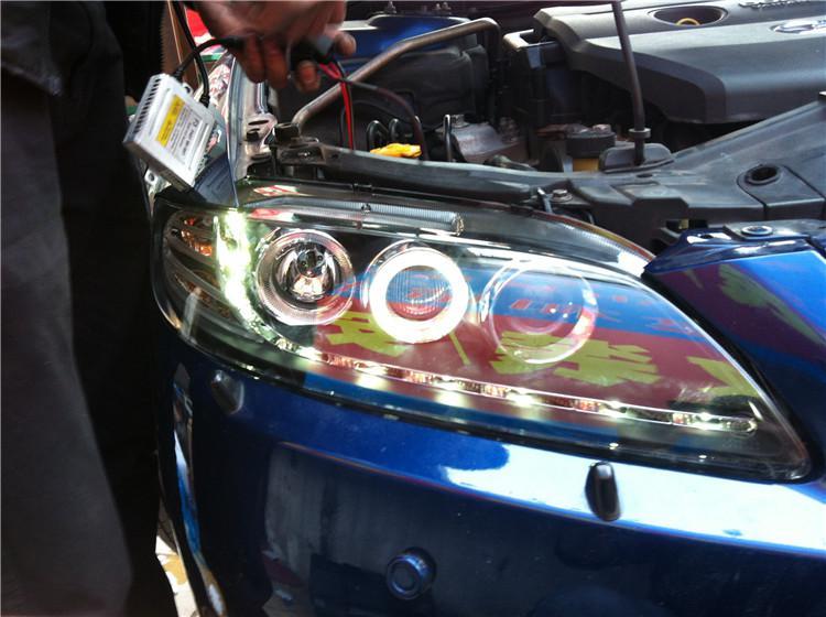 Mazda 6 Mazda M6 phare assemblée phares au xénon yeux d'ange déchirer cheval six phares modifiés Livraison gratuite 100% nouveau 100% haute qualité