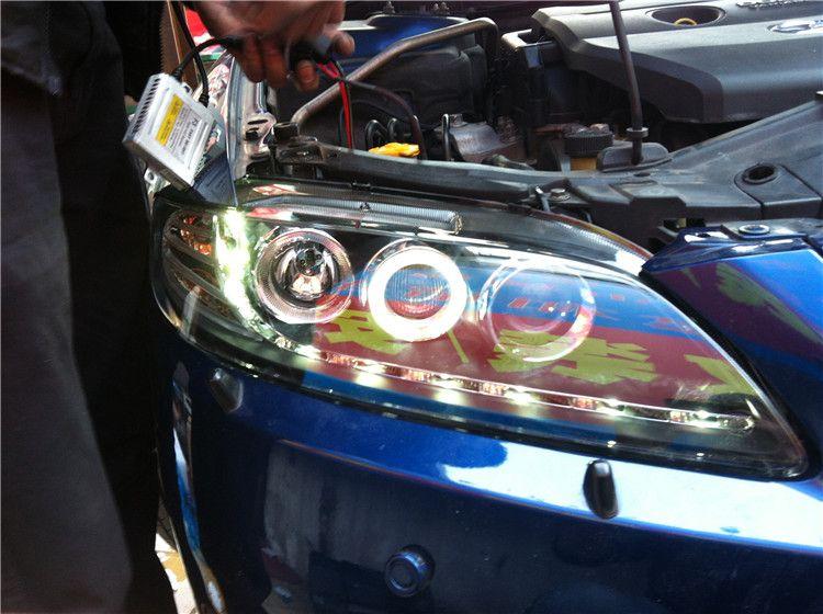 Mazda 6 Mazda M6 Scheinwerfer Versammlung Xenon Scheinwerfer Engel Augen Träne Pferd sechs modifizierte Scheinwerfer Freies Verschiffen 100% Neue Qualität 100%