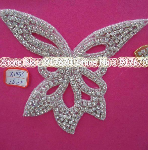 10 pcs /lot Luxury & Fashion flower rhinestone trim, Beaded DIY Bridal Seing Craft Lace Applique Trim