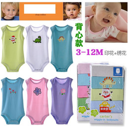 Wholesale Baby Sleeveless Bodysuits - 2014 Brand New Baby Sleeveless Bodysuits Newborn one piece cloth 0-24Month Retail Free Shipping