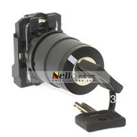 ingrosso schneider switch-[BELLA] Interruttore a pulsante Schneider 22mm interruttore a chiave XB5AG41C 2 segmento a pompaggio doppio autobloccante in plastica 1NO - 10PCS / LOT