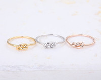 Wholesale Wholesale Knot Rings - 10pcs lot Infinity Knot Ring - Heart knot rings,pinky rings, jewelry rings,fashion rings, unique rings,rings for women,JZ022