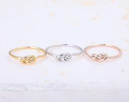 Wholesale Wholesale Knot Rings - 10pcs lot Infinity Knot Ring - Heart knot rings,pinky rings, jewelry rings,fashion rings, unique rings,rings for women,JZ022