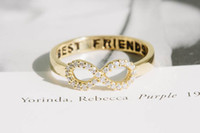 Wholesale Eternity Ring Bands - 10pcs lot crystal infinity rings,best friends rings,infinity rings,infinity jewelry,eternity rings,graduation rings,infinite,JZ023