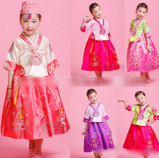 2018 New Hot Hanbok Korean Traditional Formal Dresses Costume Princess Girls Flower Embroidered Dress Kids Holiday Party Costumes Dress A811 From ...  sc 1 st  DHgate.com & 2018 New Hot Hanbok Korean Traditional Formal Dresses Costume ...