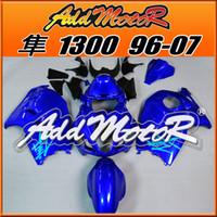 Wholesale Suzuki Gsxr 1996 - Addmotor Fairing For Suzuki Hayabusa GSXR1300 GSX-R 1300 GSXR 1300 1996-2007 96-07 All Blue S3625+Tank Cover Fairing+5 Free Gifts