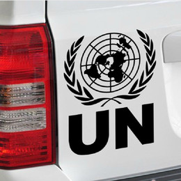 Wholesale united fiber - Reflective un the United Nations logo car door decoration stickers for volkswagen volvo and so on