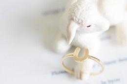 Wholesale Tibet Horse - 10pcs lot Hot Horse Shoes Rings Adjustable Knuckle Cool Rings For Women, JZ036