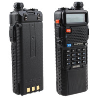 Wholesale Vhf Uhf Handheld Transceivers - Portable radio baofeng UV5R,Dual Band VHF UHF 136-174 & 400-520MHz ham two way Radio transceiver with 3800mAh Li-ion battery built-in