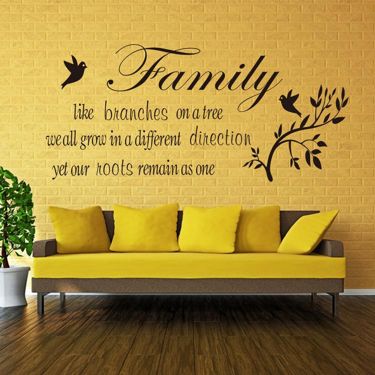 Family Wall Quotes Art Vinyl Wall Stickers Decal Room Decor Stickers ...