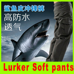 Wholesale Flying Shark - 2014 Lurker Shark skin Soft pants camouflage pants 6 color high quality Waterproof Windproof Sports Army pants A292L