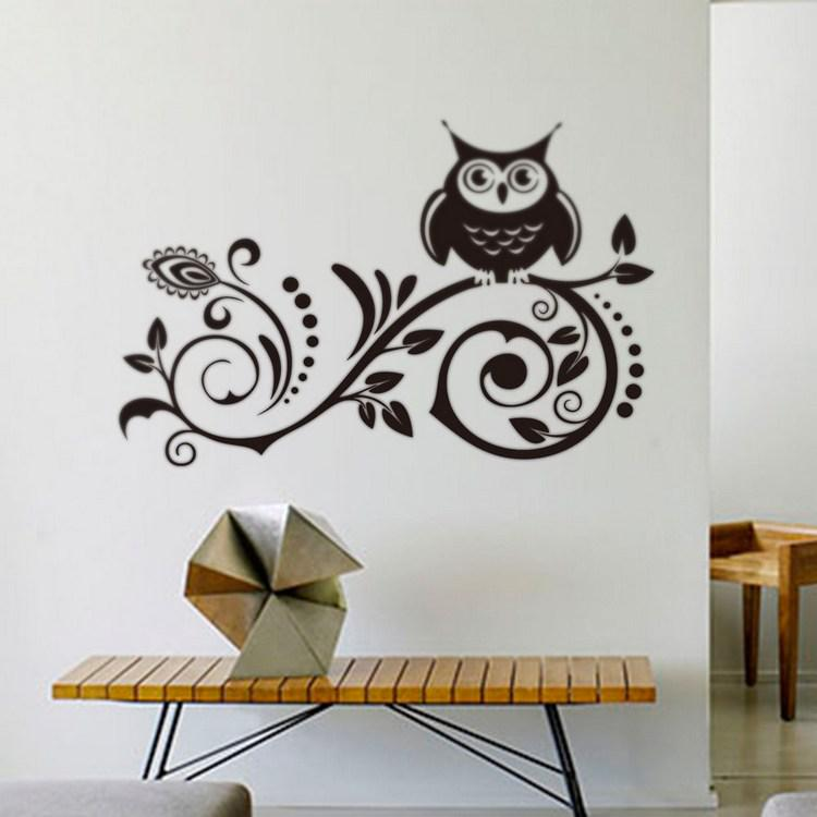 Amazing Larger Art Vinyl Wall Stickers Decal Large Black Owl Room Decor Wall  Stickers Home Decor Wall Decor Stickers Bedroom Wall Decals Online With  $10.06/Piece On ...