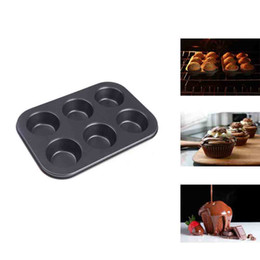 Wholesale Cake Pans Metal - Pan Muffin Cupcake Bake Mould Mold Bakeware 6 Cups Dishwasher Safe Versatile Sturdy Cooking Tools Kitchen Chocolate Accessories H11721