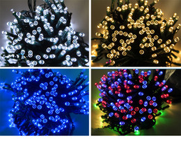 Wholesale Bright Christmas Tree - Colorful awesome! Solar LED string lights, outdoor garden lights super bright led lights flashing Christmas lights string of holiday lights