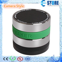 Wholesale Cameras Hand Lens - Mini Camera Lens Style Bluetooth Speaker,Hands-free Portable Wireless Stereo Speaker for iPhone iPad with TF card slot, DHL Free to HK,A