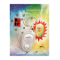 Wholesale Ultrasonic Keychain Mosquito - S5Q Mini Ultrasonic Repellent Anti Mosquito Insect Electronic Repeller Keychain AAAAOL