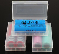 Wholesale Battery Case Holder - Portable 18650 battery storage box plastic battery case box holder storage container pack 2*18650 or 4*18350 CR123A 16340 battery