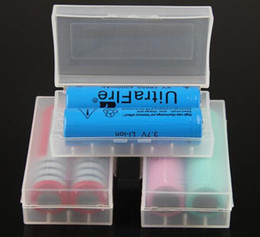 Wholesale Pack Holder - Portable 18650 battery storage box plastic battery case box holder storage container pack 2*18650 or 4*18350 CR123A 16340 battery