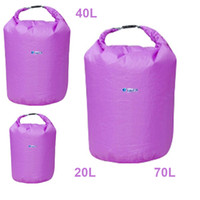 Wholesale Dry Bag Canoe Camping - 20L 40L 70L Water Resistant Waterproof Dry Bag for Canoe Floating Boating Kayaking Camping H8071