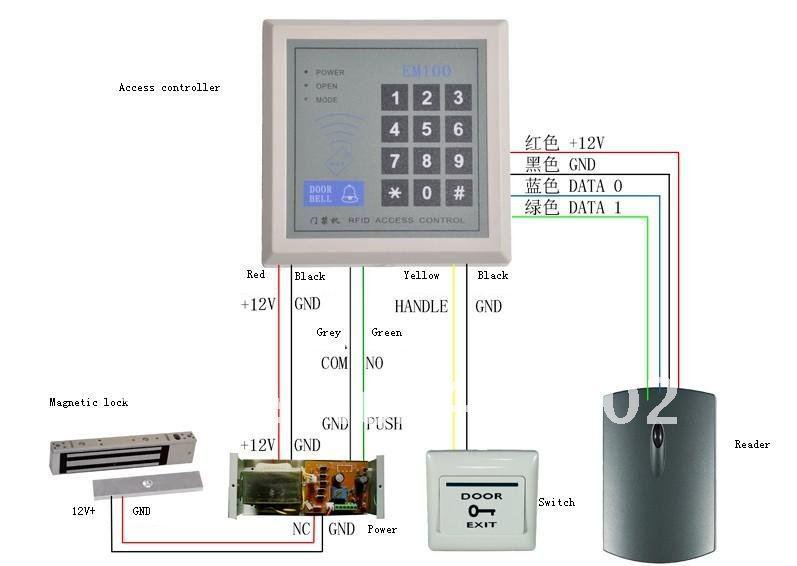125khz rfid id card reader keypad door access control kit