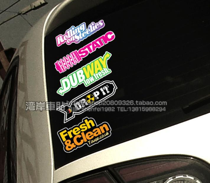2018 hf hellaflush car rear window sticker reflective multicolour set fatlace doodle car stickers from yongqiang669 30 16 dhgate com