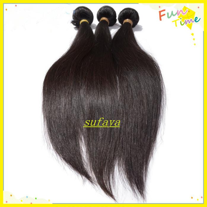 Jungfrau-gerades Haar des neuen Stern-peruanisches spinnt Königin-Haar-Produkt-natürliche Farbe 120g / Bündel