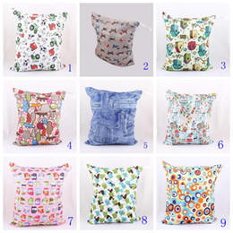 Wholesale Newborn Baby Nappies Wholesale - Newborn baby Waterproof Zippered Wet Dry Diaper Bag Baby travelling nappy stacker Wet and Dry Cloth kids Diaper Bags Wet Swimsuit Bag
